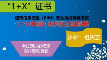 """1+X""建筑信息模型(BIM)(初级)第1期真题解析"