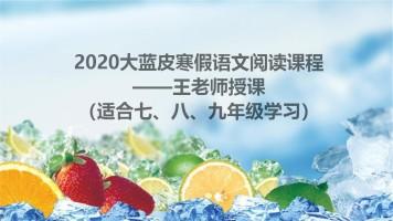 2020大蓝皮寒假语文阅读升华课程——王老师授课