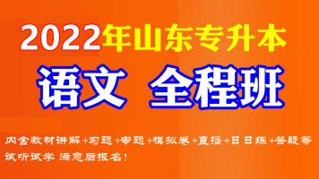 2022年山东专升本大学语文 全程班