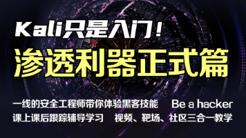 web安全微专业(kali正式篇)渗透/黑客/linux/网络安全/攻防/漏洞
