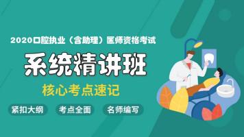 金英杰2020口腔执业(含助理)医师系统精讲班