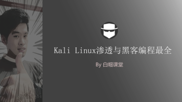 Kali Linux渗透测试与黑客编程最全系列课程