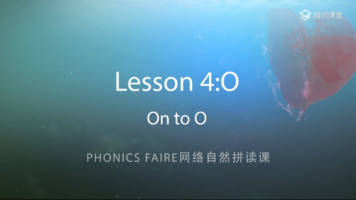Phonics Faire―Lesson 4《On to O》