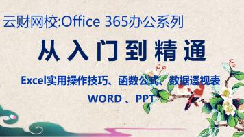 OFFICE 365 从入门到精通 实用技巧 函数公式 透视表【云财网校】
