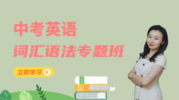 中考英语【词汇语法专题班】