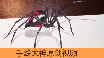 手绘进阶  一只活跃纸上的蜘蛛  还有photoshop 抠图 PS教程