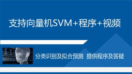 支持向量机SVM及MATLAB程序视频教程多分类识别拟合预测