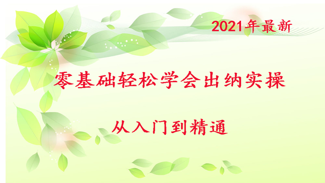2021年最新零基础轻松学会出纳实操