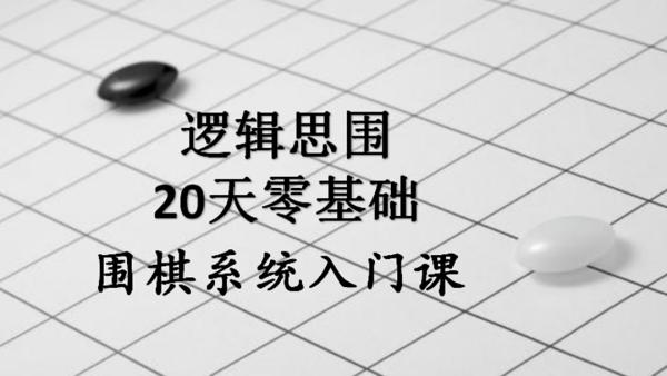 逻辑思围20天围棋零基础系统入门课
