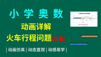 小学奥数火车行程问题动画详解试看版