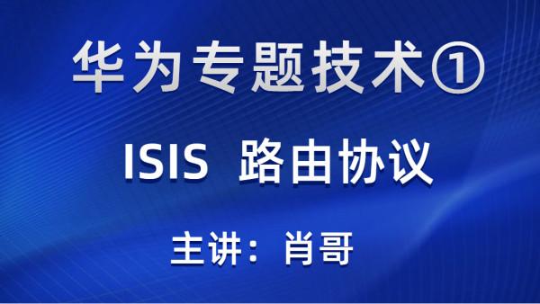 华为专题①-ISIS路由协议