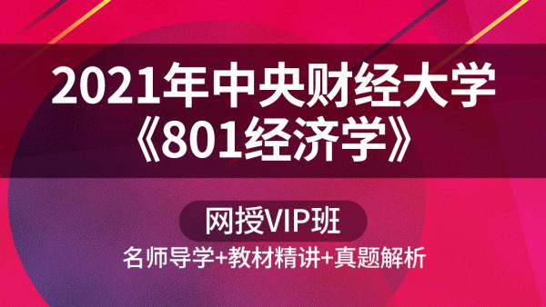 2021年中央财经大学《801经济学》网授VIP班