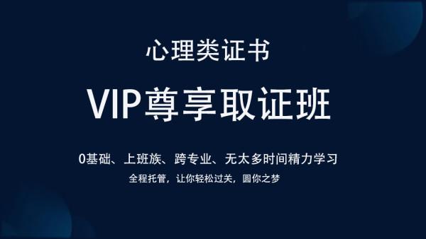 心理类证书VIP尊享取证班