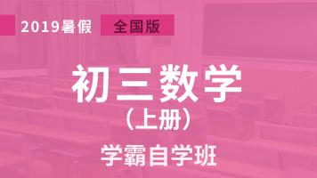2019初三数学:学霸自学班(暑假预习)【家课堂网校】