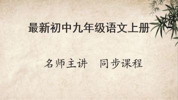 最新初中语文九年级上册同步课程