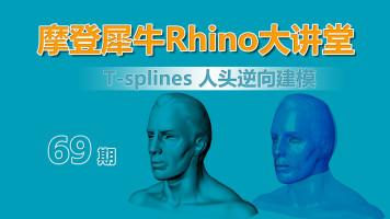 摩登犀牛Rhino第69讲 T-Splines人头逆向建模