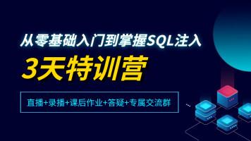 从零基础入门到掌握SQL注入3天特训营【马士兵教育】