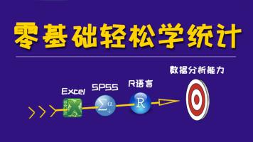 零基础轻松学统计   基于Excel, SPSS和R