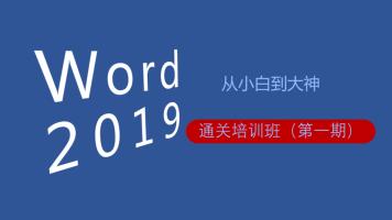 word2019小白到大神通关(直播)课程