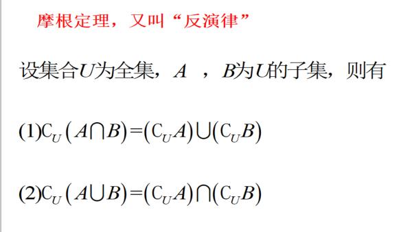 高中数学必修1--1.1.5摩根定律反演律(单三步)