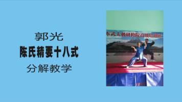 郭光陈氏精要十八式(上)