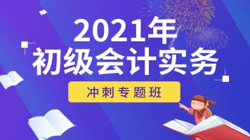 2021初级会计实务【冲刺专题班】