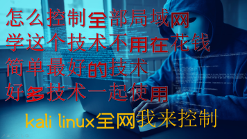 Kali局域网渗透实战/网吧控制/远程控制/arp攻击/黑客入侵/linux