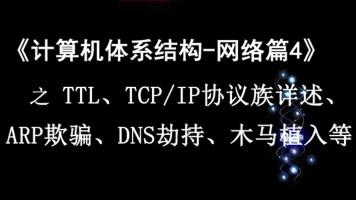 《计算机体系结构—网络篇4》之TTL、TCP/IP、ARP欺骗 DNS劫持