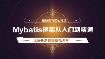 Mybatis框架从入门到精通 全套视频教程