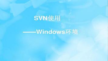 SVN-Windows环境使用培训
