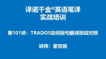 译诺千金英语笔译实战培训第101讲-TRADOS如何按句翻译按段对照
