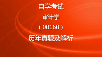 自学考试审计学(00160)历年自考真题及解析