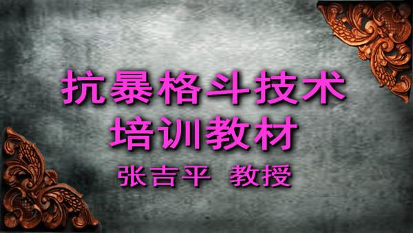 张吉平抗暴格斗技术培训教材-徒手搏击-警械擒拿棍叉匕首菜刀
