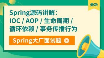 Spring源码讲解 - IOC/AOP/生命周期/循环依赖/事务传播行为