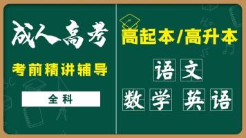2021/2022全国成人高考高起本/高升本语文/数学/英语统考试听课