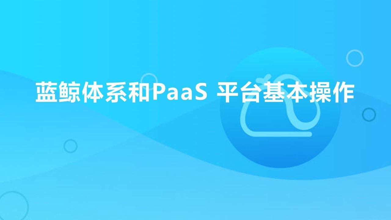 蓝鲸体系和PaaS 平台基本操作