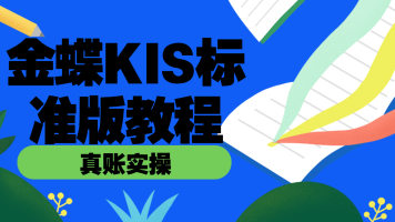 金蝶KIS标准版财务软件教程