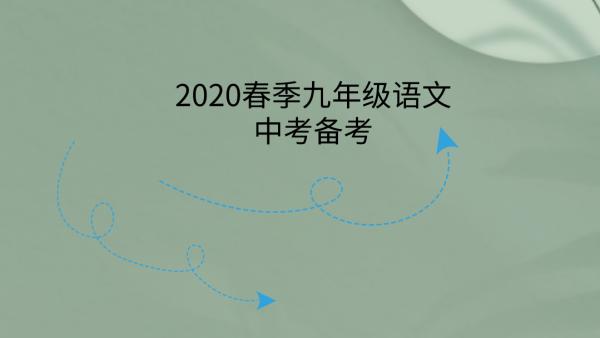 2020春季九年级语文中考备考