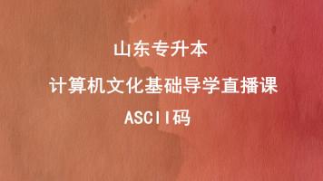 计算机文化基础导学—ASCII码