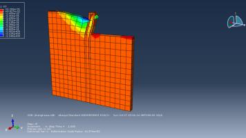 abaqus双排桩支护基坑开挖数值模拟