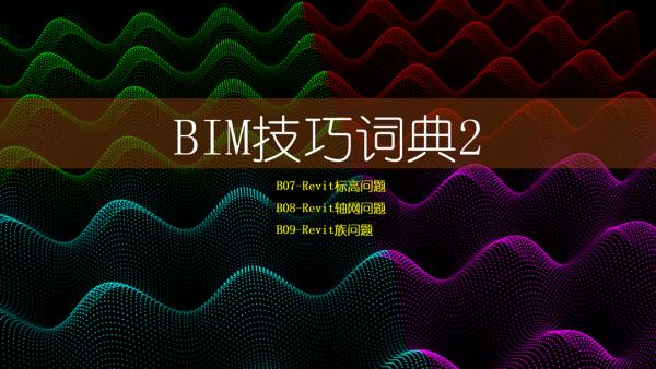 BIM技巧词典2