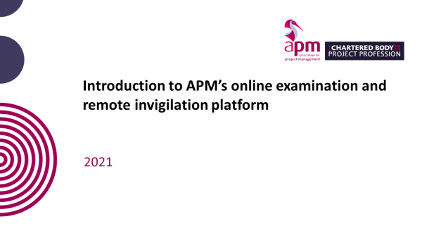 APM | Online Exam Introduction