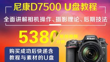 U盘版-尼康D7500摄影从入门到精通
