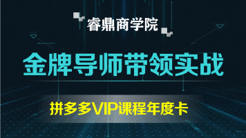 【睿鼎商学院】拼多多VIP课程年度卡