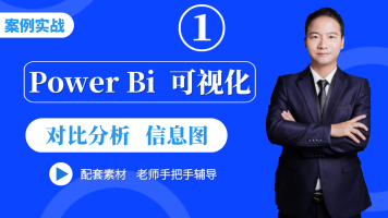 power bi数据分析powerbi可视化动态图表零基础视频入门教程