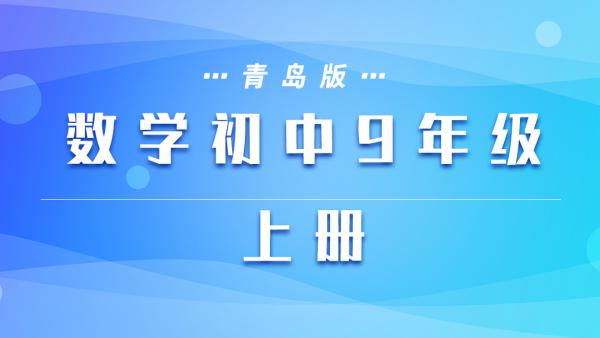 青岛版数学初中九年级上册
