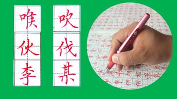 硬笔书法视频教程 墨龙中性笔笔法精讲 成人中小学生练字视频课程