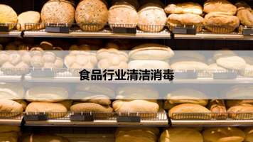 食品行业的清洁消毒