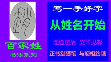 赵-百家姓书法系列之正书堂书法之硬笔书法、写字视频教程