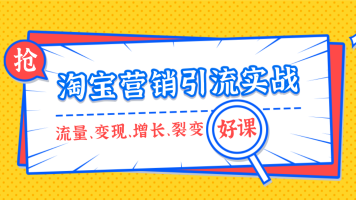 淘宝营销引流实战精品课【经典】